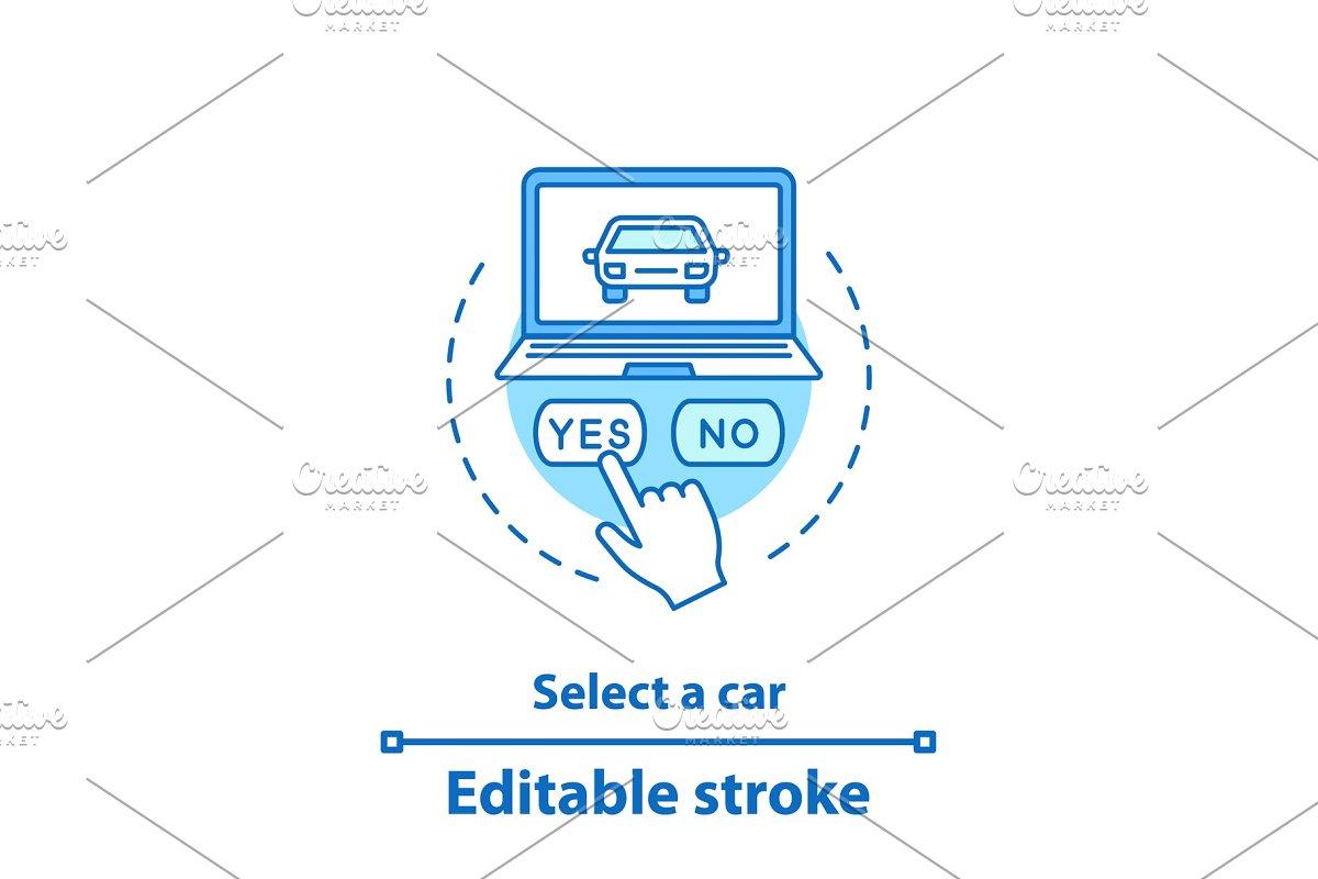 Select Car Concept Icon