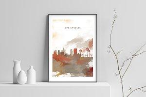 City Skyline print - Los Angeles