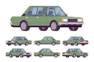 Green sedan set