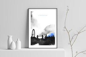 City Skyline print - London