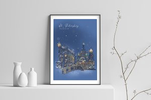 City Skyline print - St. Petersburg