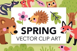 Spring Animals Art Pack