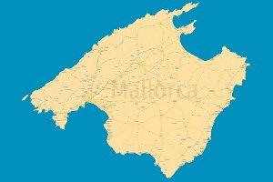 Mallorca (Majorca) political map