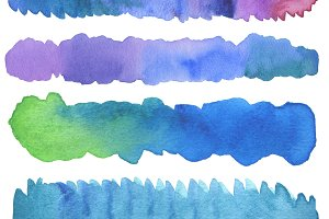watercolor strip painted background