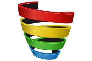 Spiral sales funnel color icon