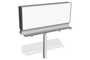 Vector billboard blank