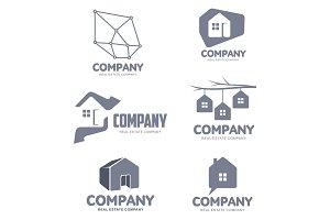 Set of real estate company logo