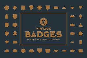 Vintage Badges Vector Shapes