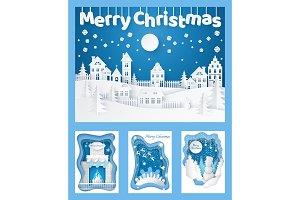 Merry Christmas Paper Cut