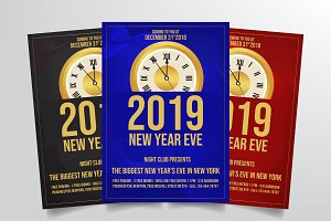 New Years Eve Flyer Template Vol. 1