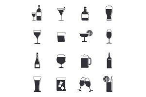 Drink black icons