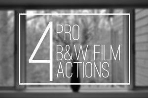 5 B&W Pro Film Actions