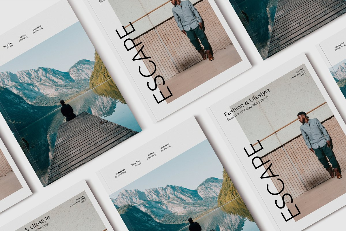 Escape Magazine Template
