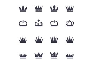 Crown black icons