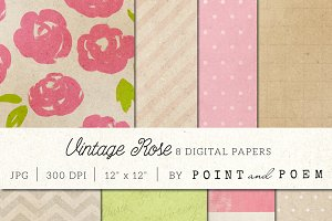 Vintage Floral digital papers