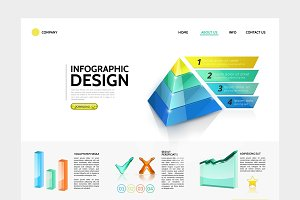 Infographic landing page concept
