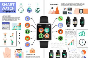 Smart watch infographic concept