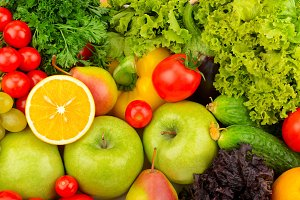 Background of natural fresh fruit an