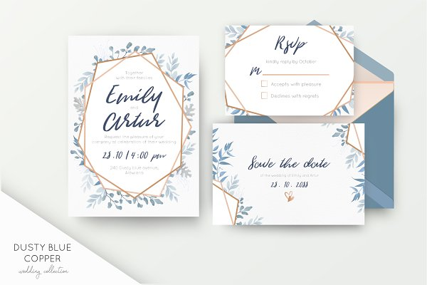 Wedding collection - Dusty blue