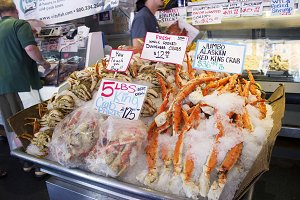 Seafood in Pike Place