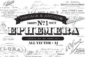 Vintage & Antique Ephemera Set No. 1