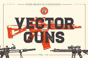 VECTOR GUNS HAND DRAWN BUNDLE 1.0