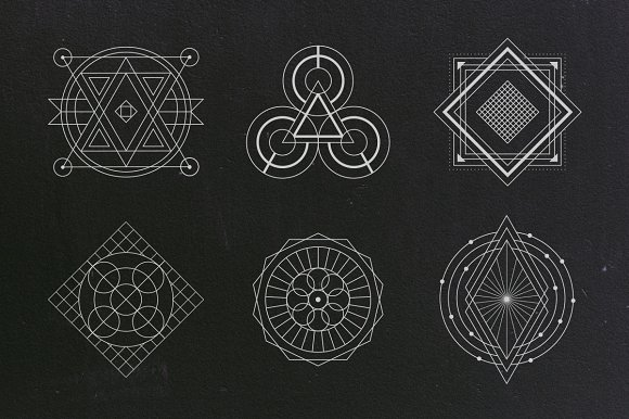 24 sacred geometry vectors graphic objects creative market
