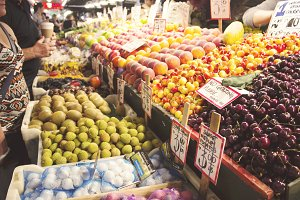 Fresh food in the market