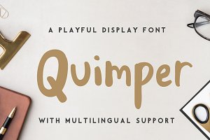 Quimper | a playful display font