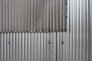 Steel fence pieces wall