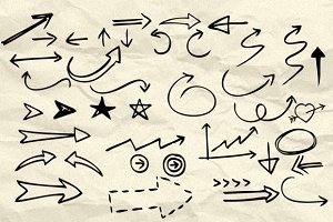 90 Hand Drawn Arrow & Symbol Brushes