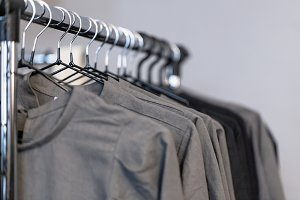 Black and gray female clothes
