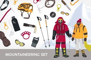 Mountaineering set and seamless