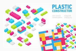 Plastic constructor bundle