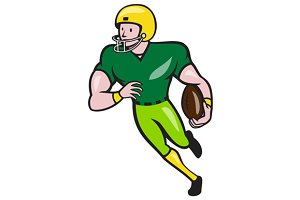 American Football Receiver Running I