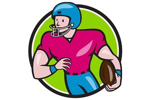 American Football Receiver Running C