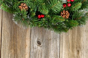 Christmas Wreath Border