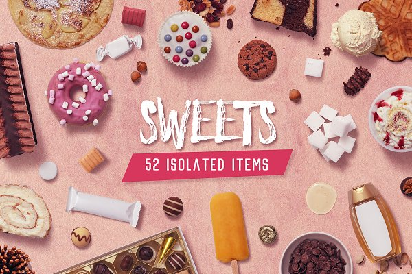 Product Mockups - Sweets - Isolated Food Items