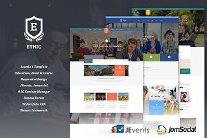 ETHIC - Education Joomla Template