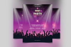 Night party flyer V01