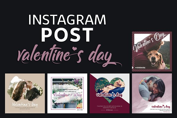 Instagram Post Template - Valentine