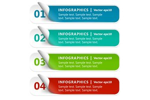 Numbered Paper Infographics