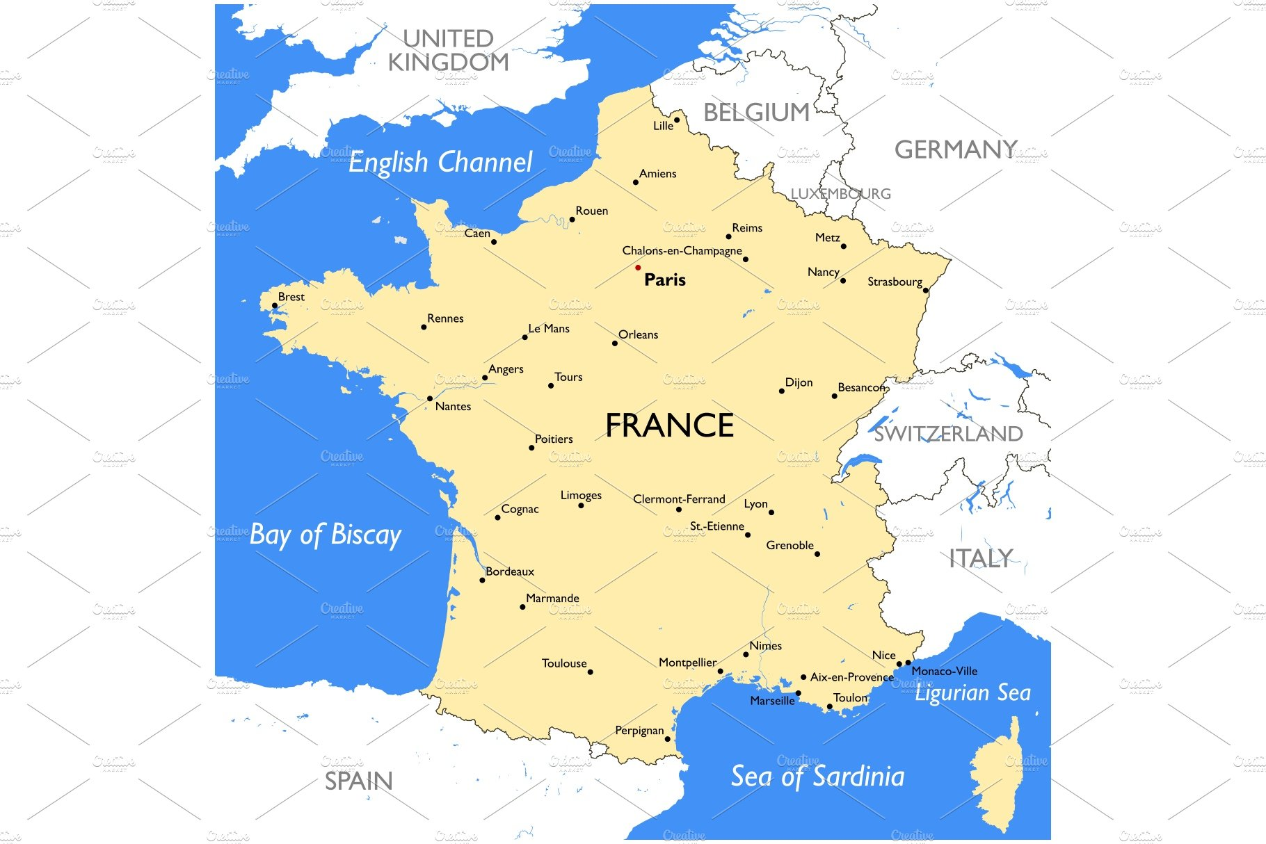 France Map Illustrations Creative Market