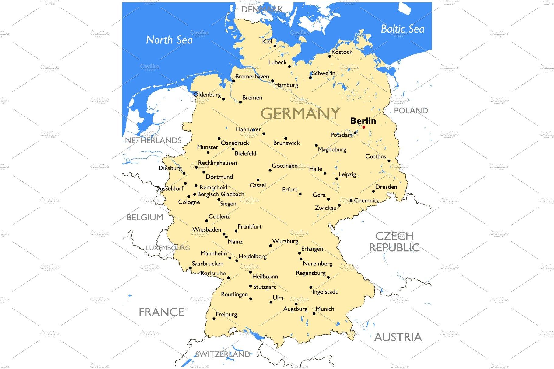 Germany Map Illustrations Creative Market