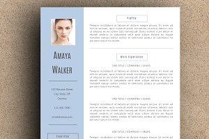 The Amaya Resume Pack - Blue