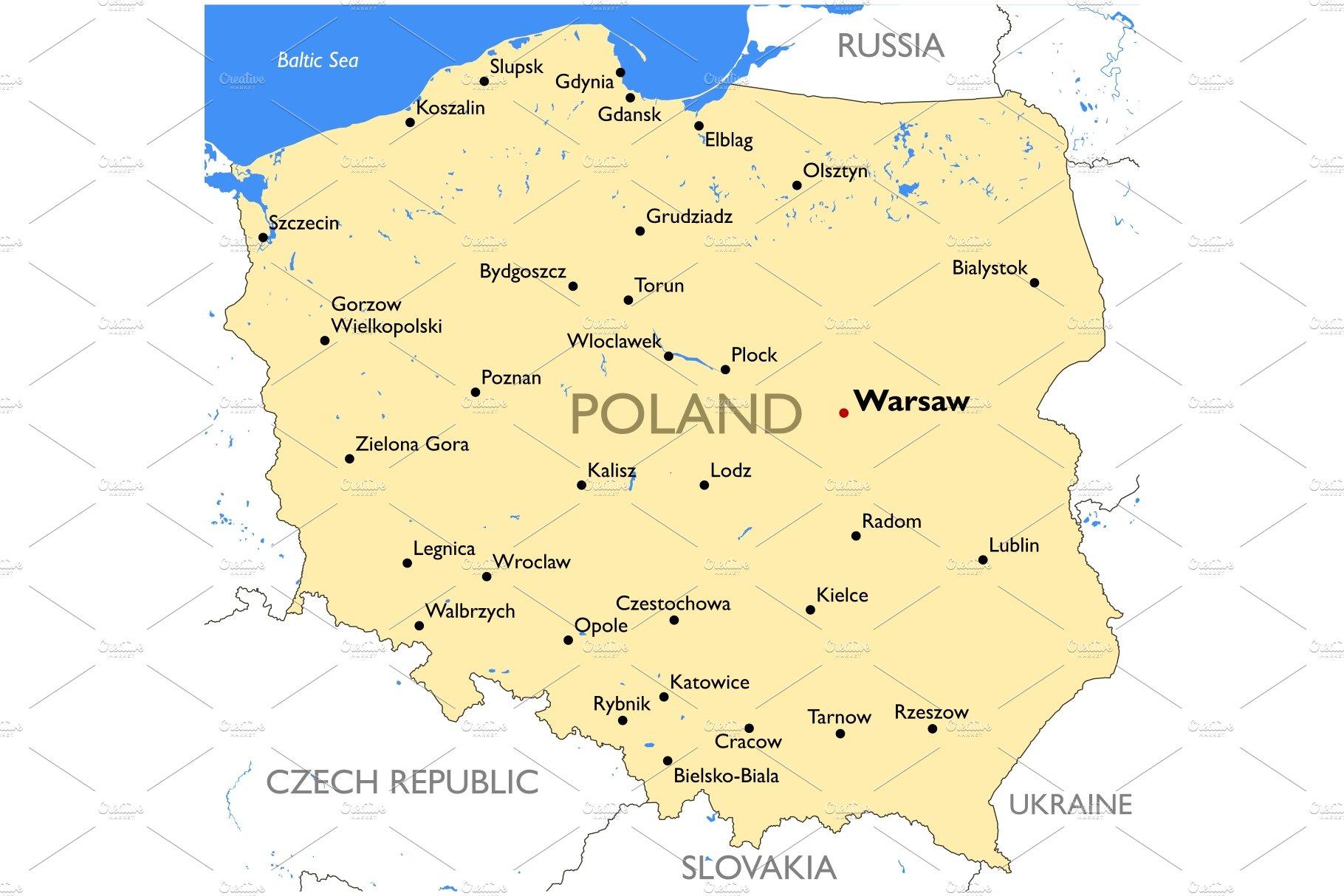 Poland Map Illustrations Creative Market