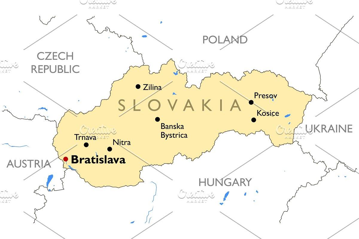 Slovakia map ~ Illustrations ~ Creative Market