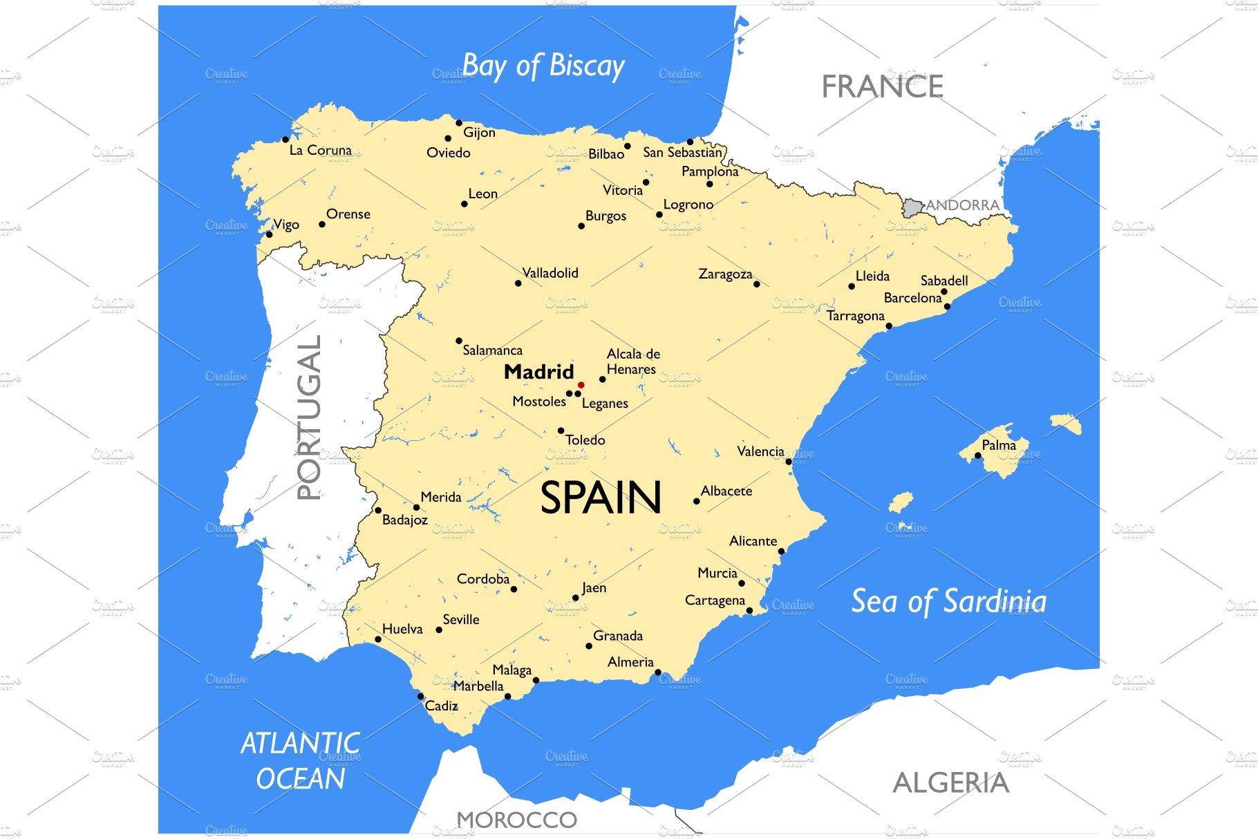 Map Of Spain Almeria.Spain Map