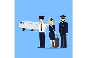 Aviation Crew Members Card Poster