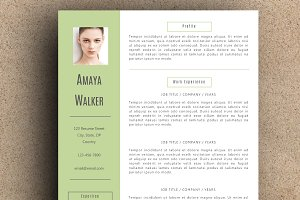 The Amaya Resume Pack - Green